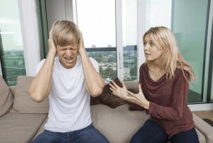 a woman nagging her boyfriend